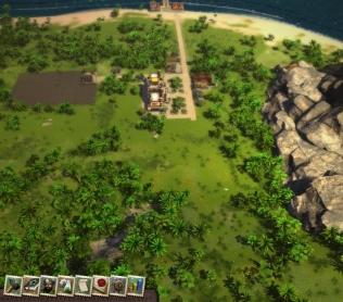Тропический остров на первом этапе развития